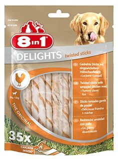 """Aus der Kategorie Sticks und Kaustangen  gibt es, zum Preis von EUR 8,99  <p style=""""font-family:Symbol;font-size:13.333333333333332;margin:667 0 667 48;"""">8in1 Twisted Sticks, das ist leckeres Fleisch """"umwirbelt"""" mit bissfester Haut, hergestellt ohne künstliche Farbstoffe und Geschmacksverstärker. Die Sticks sind für jede Hundegröße geeignet.</p> <p style=""""font-family:Times New Roman;font-size:16;margin:667 0 667 48;"""">· 8in1 DELIGHTS Twisted Sticks mit Hähnchenfleisch in bissfester Rinderhaut…"""