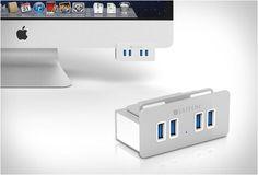 HUB DA SATECHI PARA RESOLVER O PROBLEMA DAS PORTAS USB DO IMAC  O HUB Satechi  é outra solução elegante que resolve o chato problema das portas USB traseiras do iMac.  Veja mais detalhes: http://www.filtromag.com.br/hub-da-satechi-para-resolver-o-problema-das-portas-usb-do-imac/