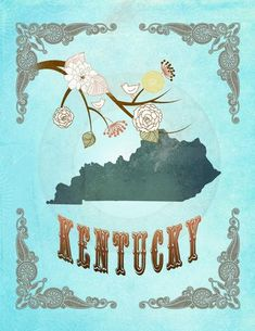 Kentucky State Map Art 8.5X1 by LegacyHouseArt on Etsy