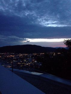 Graz - Skybar - awesome - sight - city - mountains - lights - citylights