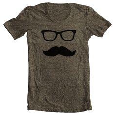 Men's Mustache T Shirt Movember Shirt American Apparel Tee XS, S, M, L, XL 10 COLORS. $22.00, via Etsy.