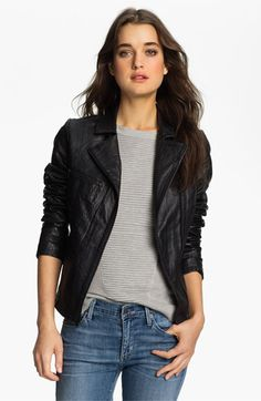 kind of obsessed with this jacket. Paige 'Ridley' Leather Biker Jacket | Nordstrom
