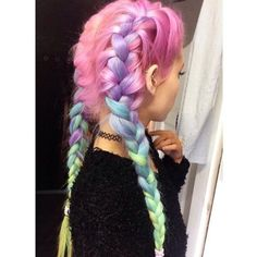 32 Pastel Hairstyles Ideas You'll Love ❤ liked on Polyvore featuring accessories, hair accessories and hair