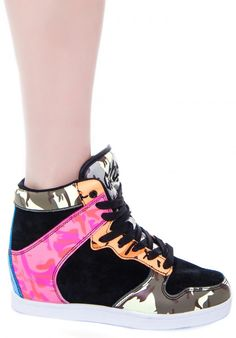 8d19acaa5e15 Cute to the Core Clutch Hidden Wedge Sneaker Hidden Wedge Sneakers