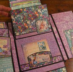Fairie Dust Graphic 45 Mini Album Tutorial Little Lady Mini | Etsy Mini Albums Scrapbook, Papel Scrapbook, Vintage Scrapbook, Graphic 45, Album Vintage, Origami, Chicken Scratch Embroidery, Diy Crafts For Girls, Album Book