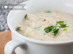 new england clam chowder | via Little White Whale