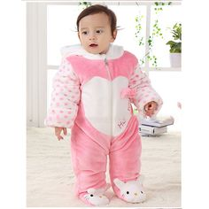 Winter Warmer Thickening 100% Flannel+Cotton Hoodie Footy Baby Jumpsuits Rompers Bodysuits Overall Infant Clothes Costume Retail