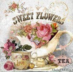 Home sweet hom illustration tea time ideas Decoupage Vintage, Vintage Diy, Vintage Labels, Vintage Ephemera, Vintage Cards, Vintage Paper, Vintage Postcards, Images Vintage, Vintage Pictures