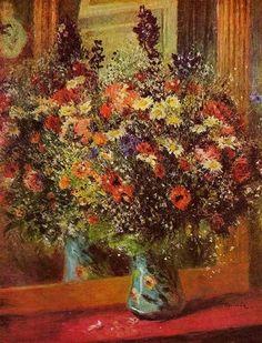 Pierre Auguste Renoir Μπουκέτο μπροστά στον καθρέφτη