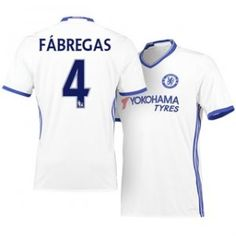 16-17 Chelsea White Third #4 Fabregas Cheap Replica Jersey [H00202]