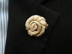 Gold Lapel Rose Gold Lapel Flower Silk Lapel Flower by MayCheang