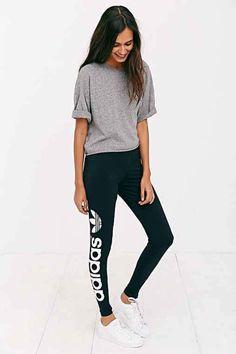 adidas Originals Trefoil Legging- Black