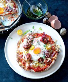 Vaječná pizza z pita chleba Pita Pizzas, Vegetable Pizza, Fresh, Vegetables, Easy, Food, Essen, Vegetable Recipes, Meals