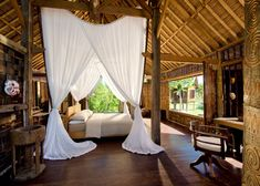 Dreamy bedroom in Bali. Sigh. (check out the rest of the house...flipping amazing!)