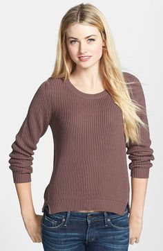 Halogen® Side Zip Sweater (Regular & Petite) | Nordstrom