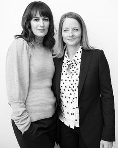 '{NEW} #RosemarieDeWitt #JodieFoster B&W portrait for @timestalks (Dec 11) shared by them on Twitter…'