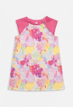 Платье детское для девочек цветное, цветное (20220200013). Размеры: 98, 104, 110, 116, 122, 128. Маленькое фото. Вид спереди. Вид сзади.