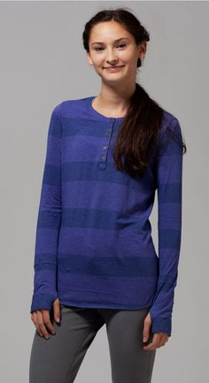 super soft + easy to layer.   Peaceful Practice LS Henley