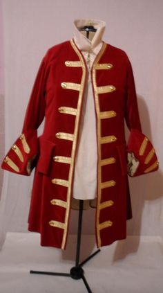 Captain Hook or Morgan Pirate Frock COAT ONLY