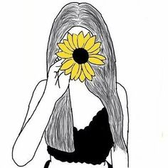 art photography - girasol shared by Isa on We Heart It Tumblr Drawings, Art Drawings Sketches Simple, Doodle Drawings, Doodle Art, Cute Drawings, Sunflower Drawing, Sunflower Art, Cartoon Kunst, Cartoon Art