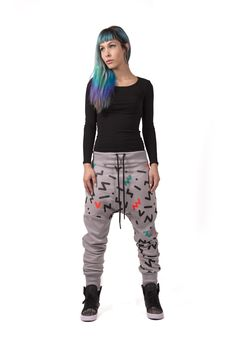 UNISEX TROUSERS GREY NEON, €79,00