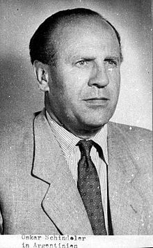 Oskar Schindler (28 April 1908 – 9 October 1974) was an ethnic German industrialist born in Moravia. He is credited with saving over 1,100 Jews during the Holocaust by employing them in his enamelware and ammunitions factories, which were located in what is now Poland and the Czech Republic.