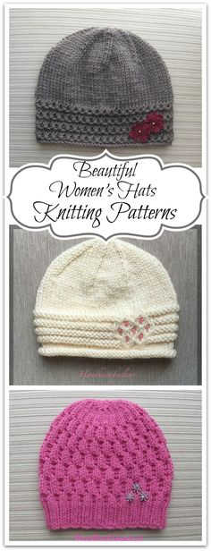 Beautiful women's hats knitting patterns. Beautiful knitting and crochet patterns - Instant PDF downloads #ad #affiliate #knitting #pattern