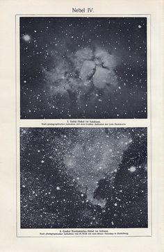 Nebel IV. 1900 Antique victorian ASTRONOMY print