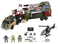 When it's time to bring in the serious firepower, the Toys'R'Us exclusive Missile Launcher Playset from True Heroes has what it takes to clinch the win! Soldier Action Figures, Military Action Figures, Gi Joe, Armadura Ninja, Realistic Costumes, Brave, Army Men Toys, Spy Gear, Toys R Us Canada
