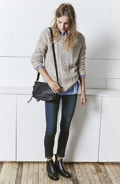 10221cb469 Treasure amp Bond Cable Knit Sweater from Nordstrom Jean Shirts