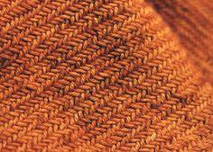 Herringbone stich, Malabrigo Rios yarn.
