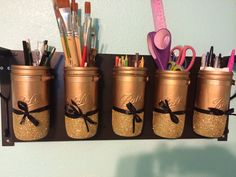 Mason jars that I made ! Aren't they cute !