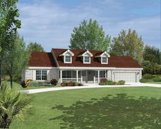 ePlans Country House Plan – Affordable Simplicity– 1310 Square Feet and 3 Bedrooms from ePlans – House Plan Code HWEPL76147