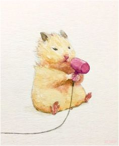 Japanese Artist Depicts the Typical Life of His Hamster Impressive Strange Funny Cute Animal Drawings, Kawaii Drawings, Cute Drawings, Hamster Kawaii, Cute Baby Animals, Funny Animals, Cute Hamsters, Japanese Artists, Cute Art