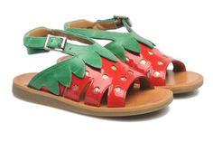 Sandales et nu-pieds POPPY STRAWBERRY Pom d Api vue détail/paire