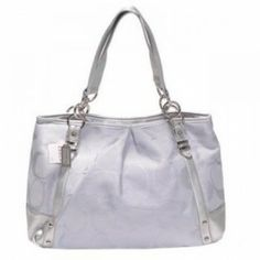 Coach Kristin Signature Sateen Tote White U03019 http://www.theredstyle.com/index.php?route=product/product&path=164&product_id=2605