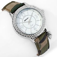 DKNYC Crystal Bezel Strap Watch with Fatigues to Fabulous™ Donation at HSN.com.