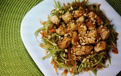 Emily Bites - Weight Watchers Friendly Recipes: Asian Chicken and Vegetables with Spicy Peanut Sauce