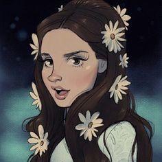 Fabulous Drawing of Lana Del Rey
