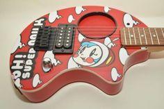 Used-FERNANDES-ZO-3-Super-Milk-mini-electric-guitar-built-in-amplifier-from-Japa