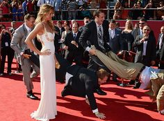 And their disregard for red carpet etiquette. | 17 Reasons Rob Gronkowski Is God's Gift To Football Fans