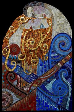 A high priestess in mosaic art - Irinia Charny.  Couple