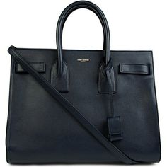 SAINT LAURENT Sac du Jour small leather tote (Marine