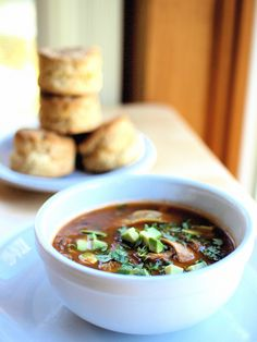 Tortilla Soup & Cheddar Biscuits #recipe