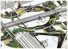 Bernard Tschumi. L'invention du parc. Graphite 1984: 23