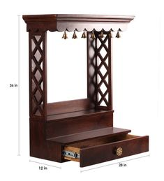 Wooden Temple For Home, Temple Design For Home, Home Temple, Temple Room, Bedroom Furniture Design, Home Decor Furniture, Furniture Online, Wooden Furniture, Furniture Factory