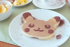 Pikachu Pancake. Use a chocolate pancake batter and regular pancake batter to make this cute Pikachu Pokemon Pancake. Some strawberries would make adorable cheeks for him too.