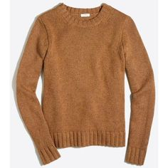 J.Crew Marnie sweater (2.230 RUB) ❤ liked on Polyvore featuring tops, sweaters, brown sweater, brown tops, j crew sweaters and j crew tops