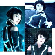 Ultra cool asymmetrical bob cut with fringe bangs. (Quorra from Tron) Olivia Wilde Tron, Tron Bike, Short Hair Cuts, Short Hair Styles, Cut And Style, My Style, Tron Legacy, Fringe Bangs, Get Glam