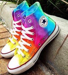 blogspot com rainbow color   Come colorare le Converse